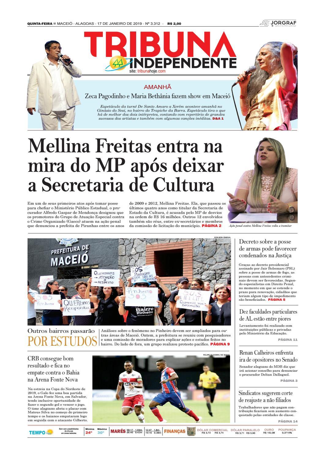 e87ef533b Edição número 3312 - 17 de janeiro de 2019 by Tribuna Hoje - issuu
