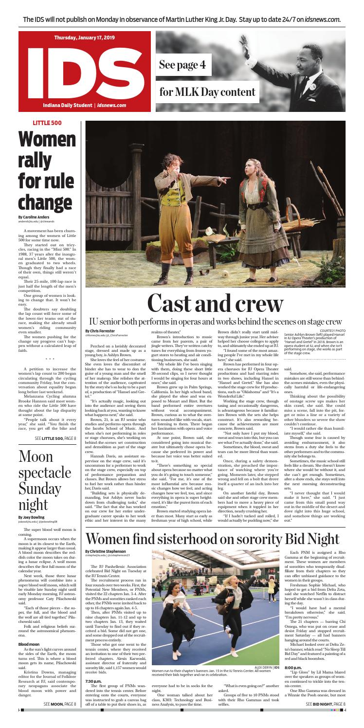 Thursday, January 17, 2019 by Indiana Daily Student