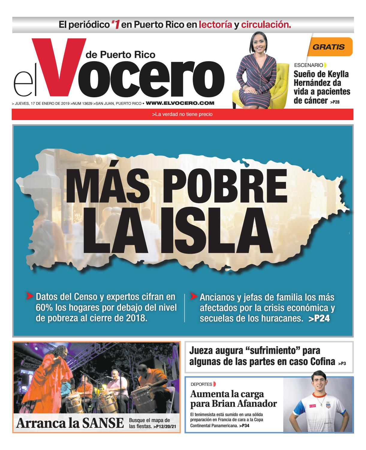 timeless design f0b12 ceabf Edición del 17 de enero de 2019 by El Vocero de Puerto Rico - issuu