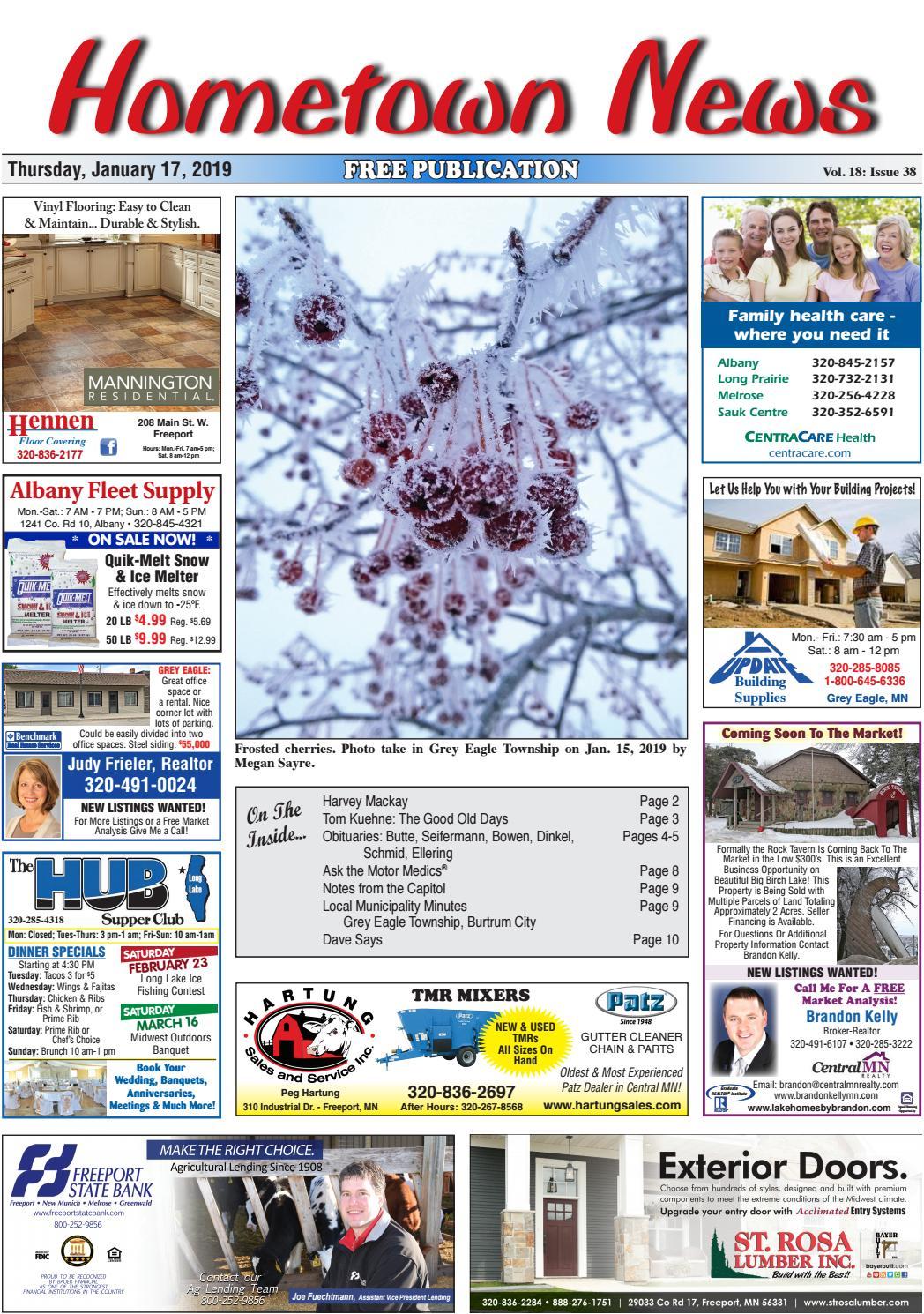 Hometown News January 17, 2019 by Hometown News - issuu