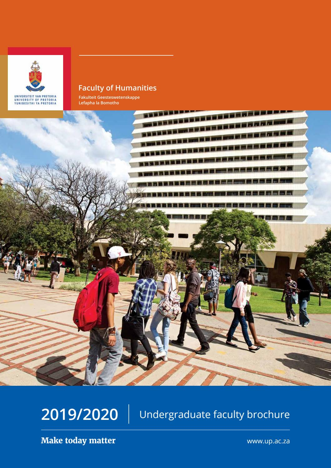 Faculty Of Humanities By University Of Pretoria Issuu