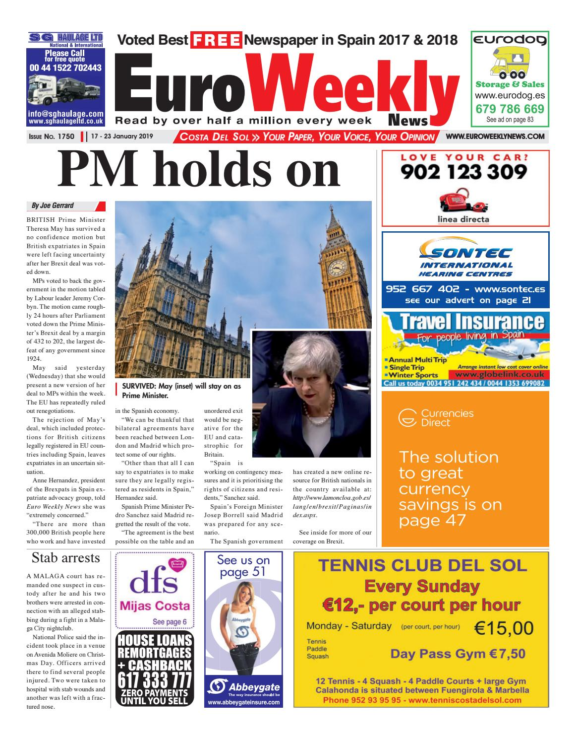 Euro Weekly News - Costa del Sol 17 - 23 January 2019 Issue 1750 by Euro  Weekly News Media S.A. - issuu 221a7a3eeb1