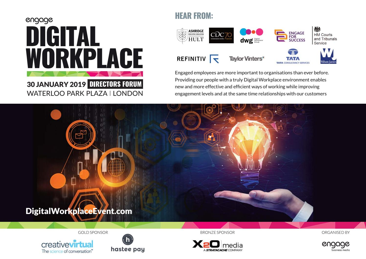2019 Digital Workplace Directors Forum Pre Event Flyer by