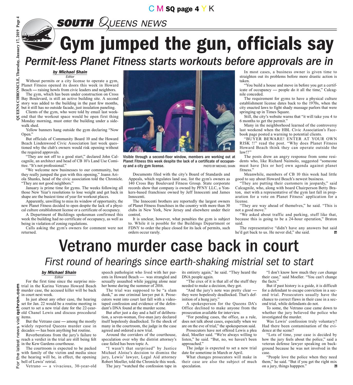 Queens Chronicle South Edition 01-17-19 by Queens Chronicle