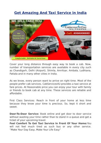 Best Taxi Service in India by cabservices4u - issuu
