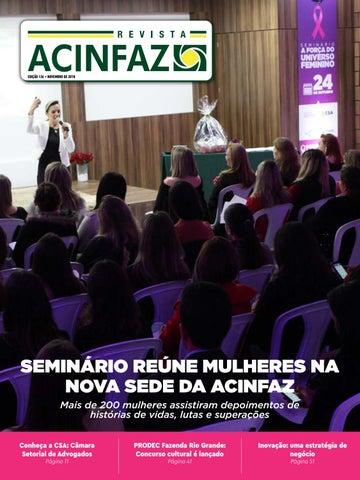 12707fa20676c Revista ACINFAZ - Edição 126 Novembro 2018 by Associação Comercial e ...