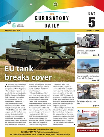 8a2bb9566f1c Eurosatory 2018 Show Daily 5 by Jane s by IHS Markit - issuu