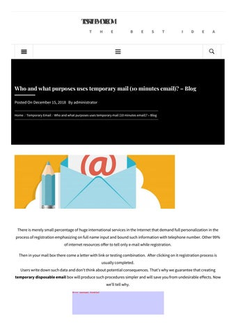 Who and what purposes uses temporary mail (10 minutes email)? – Blog
