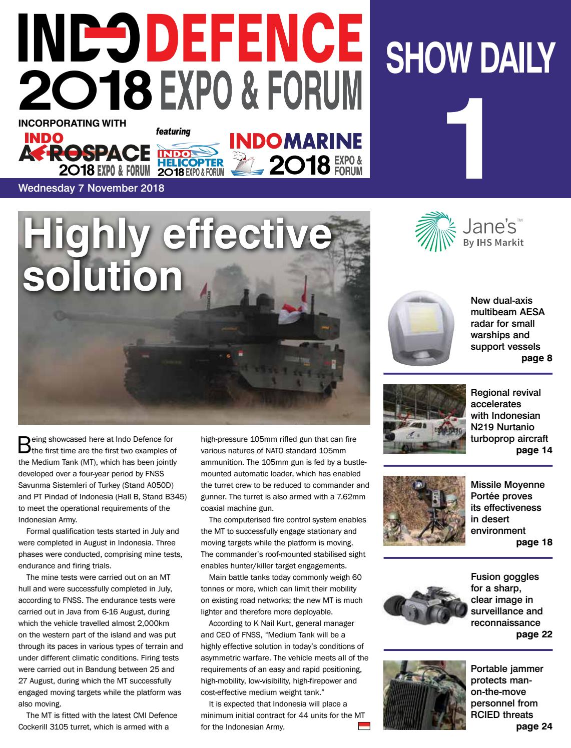 Indo Defence 2018 Show Daily 1 By Jane S Issuu