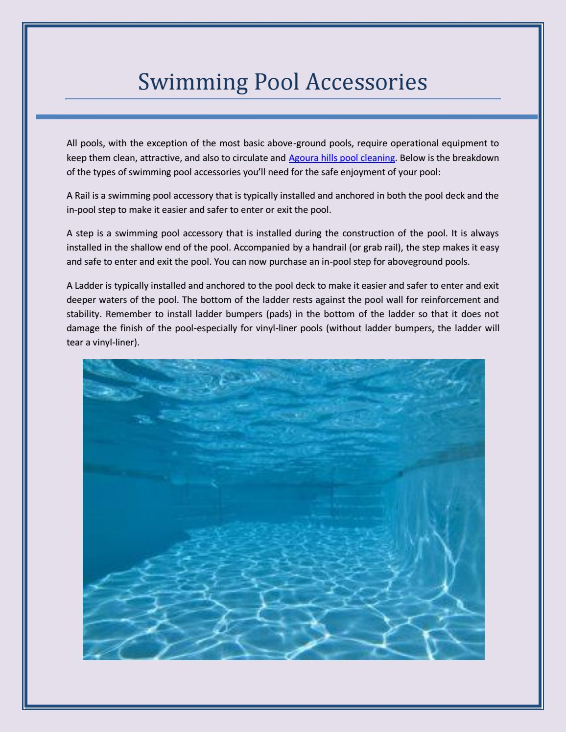Swimming Pool Accessories by Stanton Pools - issuu