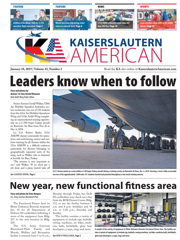 Kaiserslautern American, January 18, 2019 by AdvantiPro GmbH