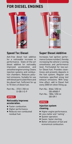 Page 11. FOR DIESEL ENGINES. Speed Tec Diesel. Super Diesel Additive