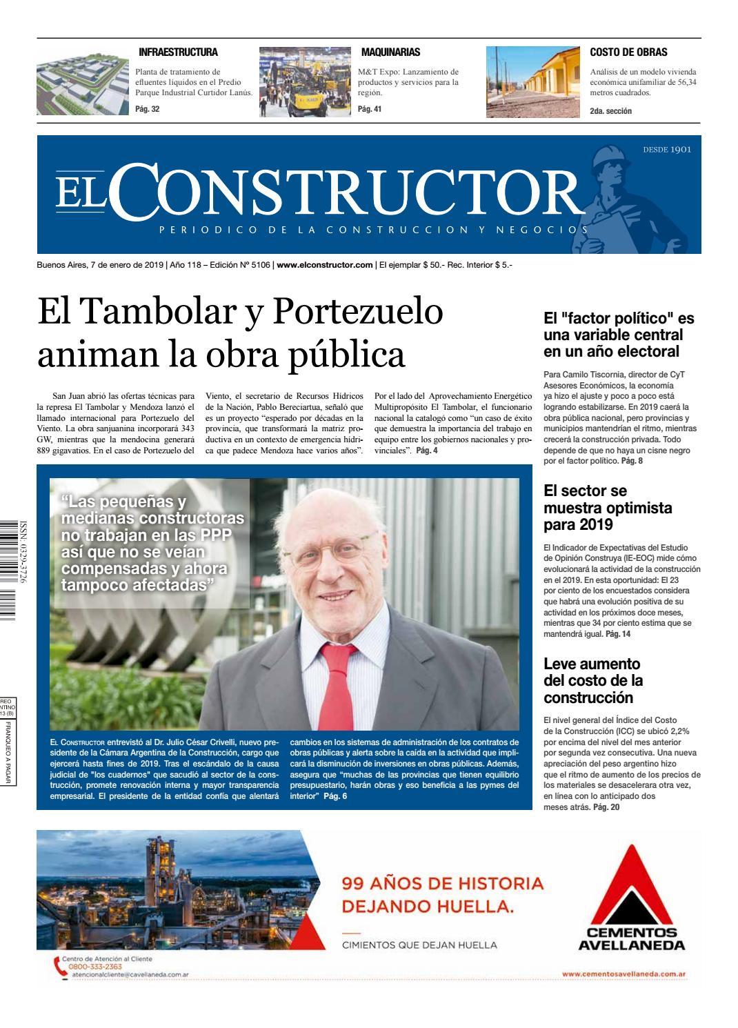 b156d9e6e39 El Constructor 7/1/19 - N° 5106 Año 118 by ELCO Editores - issuu