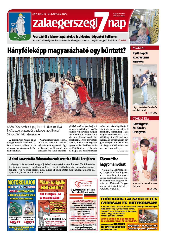 Zalaegerszegi 7 Nap - 2019. 01. 18. by Maraton Lapcsoport Kft. - issuu da5632078e