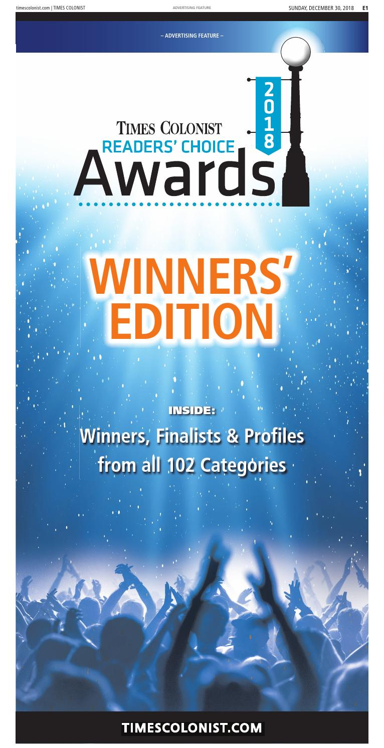 Reader S Choice Awards By Times Colonist Issuu