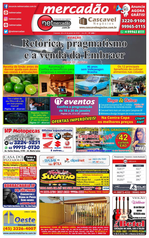 6a1f7813c Jornal Mercadão Online Grátis - 18 a 24 de Janeiro de 2019 by netmercadao -  issuu
