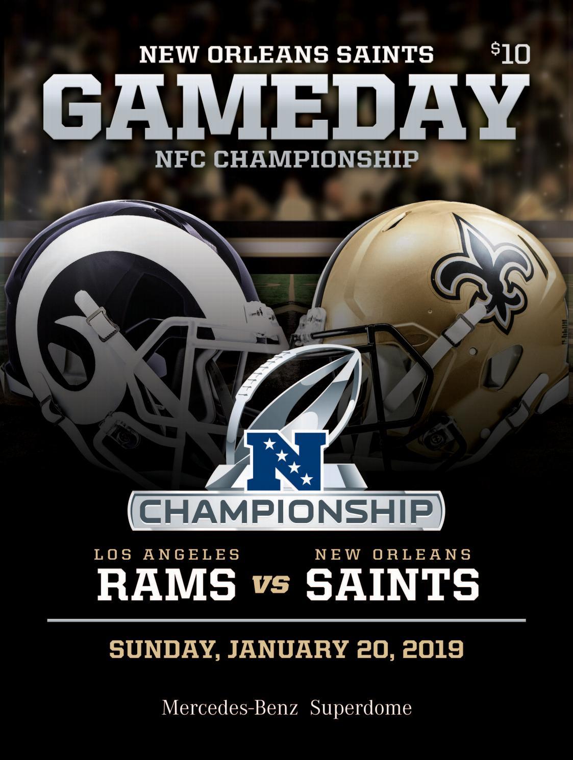 3367c1f5 New Orleans Saints Gameday | NFC CHAMPIONSHIP | Los Angeles Rams VS ...