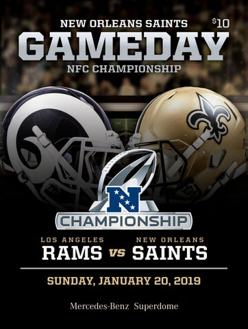 a9bc4630b9a New Orleans Saints Gameday | NFC CHAMPIONSHIP | Los Angeles Rams VS ...