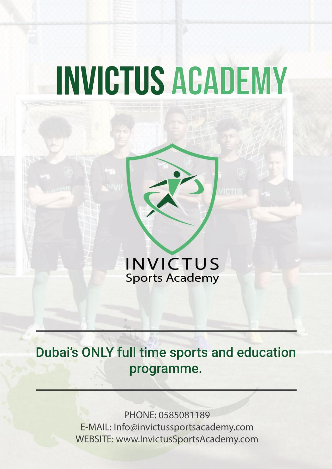 Invictus Academy Dubai Prospectus 2019/20 by Invictus Elite