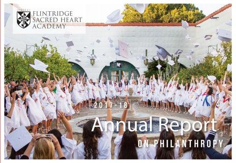 Flintridge Sacred Heart Academy Annual Report on Philanthropy by