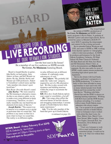Page 10 of Beard Live at SDPB