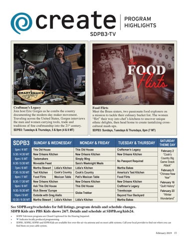 Page 15 of SDPB3-TV Create Channel February Highlights