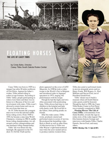Page 21 of Floating Horses: The Life of Casey Tibbs