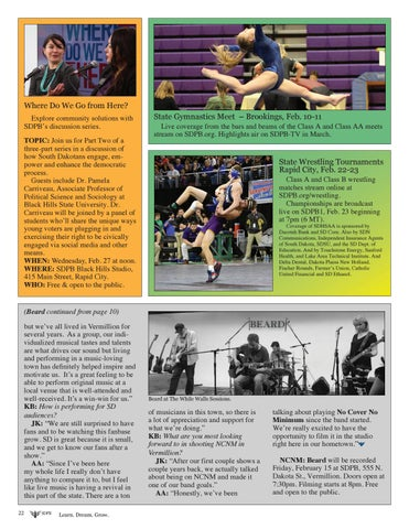 Page 22 of SDPB Sports in February