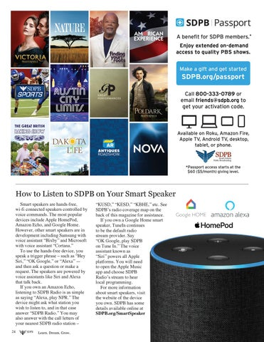 Page 24 of Listen to SDPB on your Smart Speaker