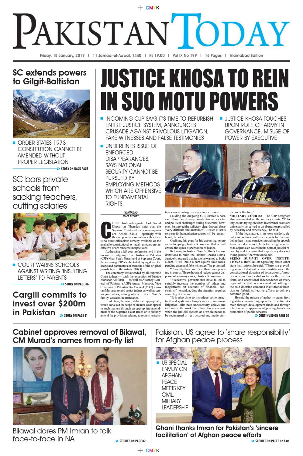 E-Paper PDF 18th January 2019 (ISB) by Pakistan Today - issuu