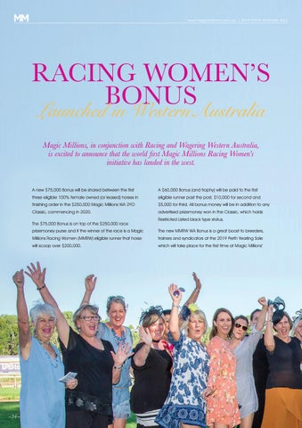 Page 34 of Racing Women's Bonus Launched in Western Australia