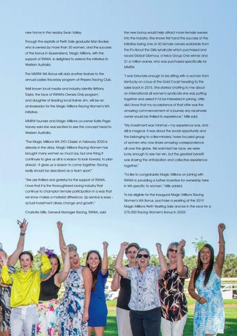 Page 35 of Racing Women's Bonus Launched in Western Australia