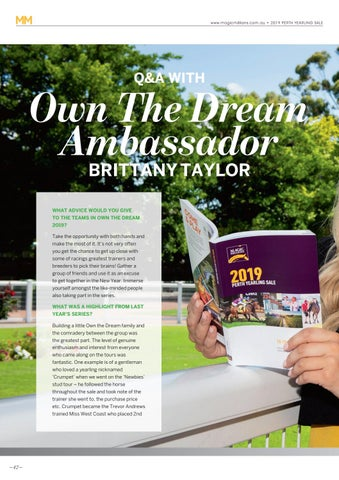 Page 42 of Q & A with Own The Dream Ambassador Brittany Taylor