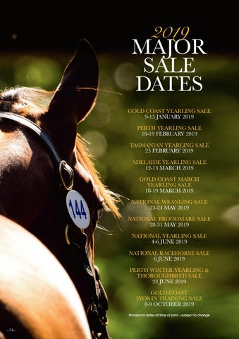 Page 74 of 2019 Major Sale Dates