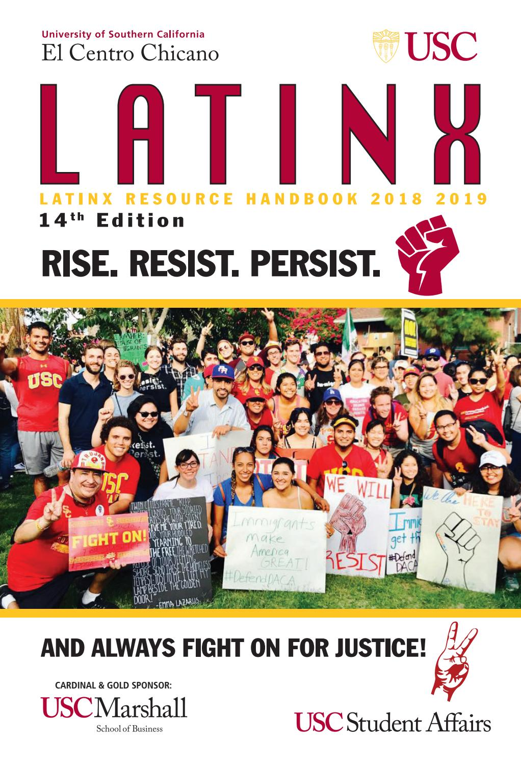 Latinx Resource Handbook 2018-19 14th Edition by University