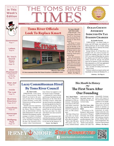 c4be1493ea2 2019-01-19 - The Toms River Times by Micromedia Publications Jersey ...