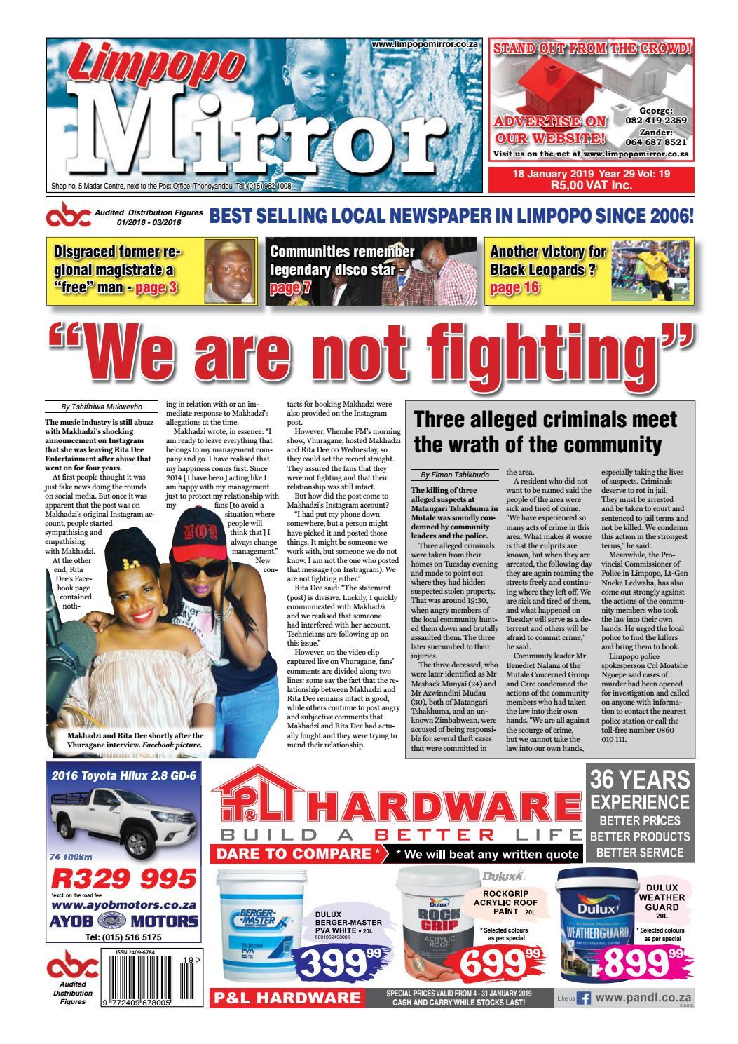 Limpopo Mirror 18 January 2019 by Zoutnet - issuu