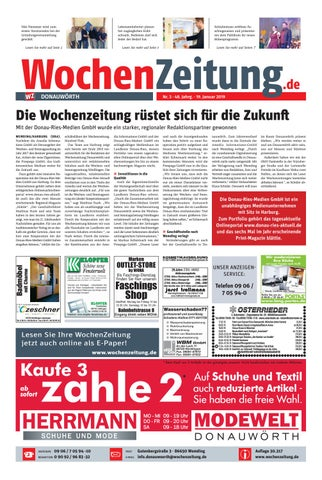 df975cbbf3c532 WochenZeitung Donauwörth KW 03.19 by WochenZeitung   SonntagsZeitung ...