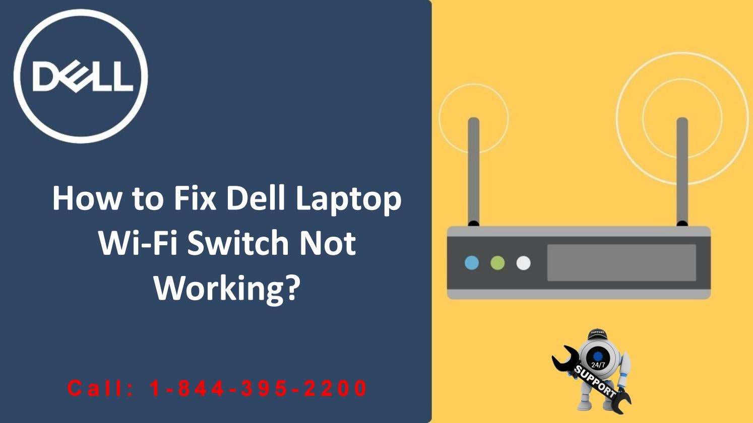How to Fix Dell Laptop WiFi switch not working by Dell