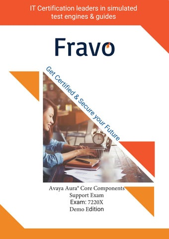 7220X - Avaya Aura® Core Components Support Exam by Sarah