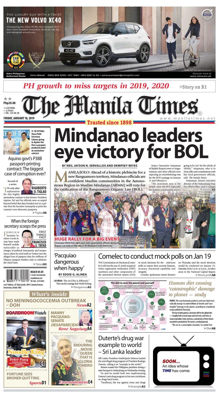 The Manila Times | January 18, 2019 by The Manila Times - issuu
