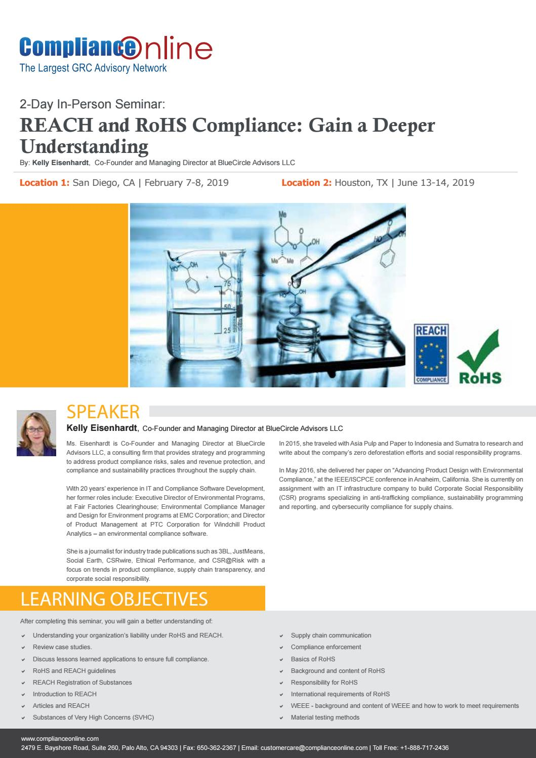 REACH and RoHS Compliance Seminar by ComplianceOnline - issuu