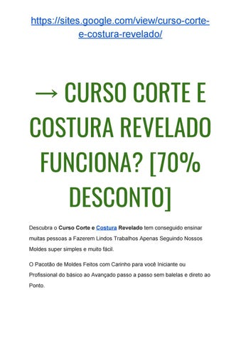 Por Marjore Souza. → Curso Corte e Costura REVELADO Vale a Pena  Por  Marjore Souza Site Oficial 5e9fd6ae081e1