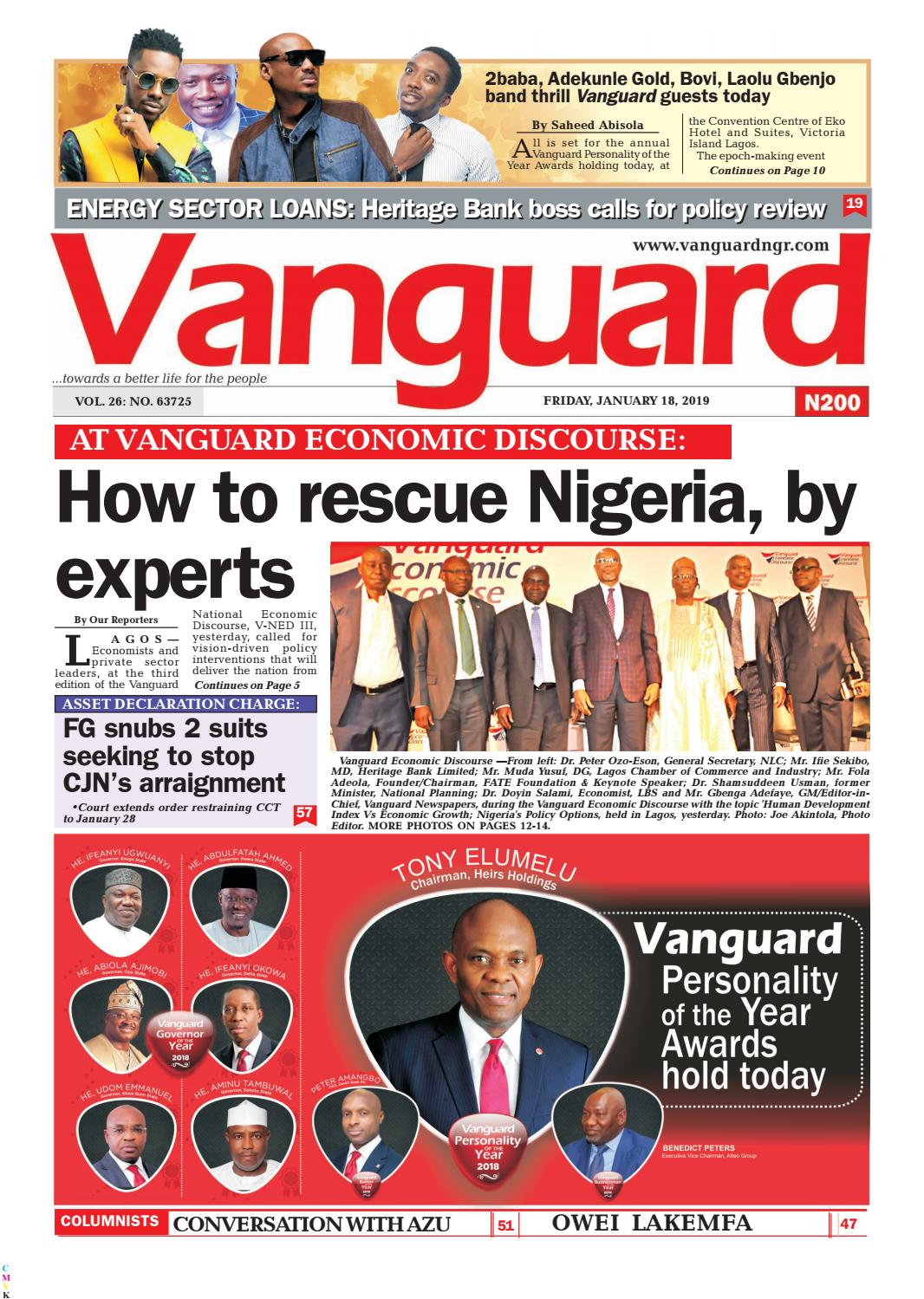 How to resuce Nigeria by experts by Vanguard Media Limited