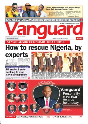 How to resuce Nigeria by experts by Vanguard Media Limited - issuu