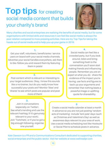 Page 10 of Creating social media content that builds your charity's brand