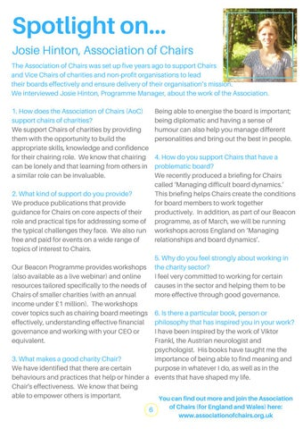 Page 6 of Spotlight on the Association of Chairs