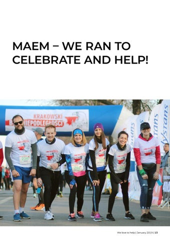 Page 13 of MAEM – we ran to celebrate and help!