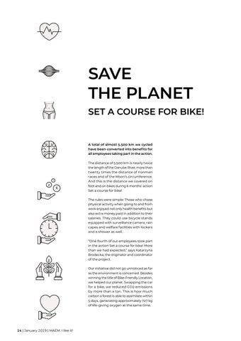 Page 14 of Save the planet, set a course for bike!