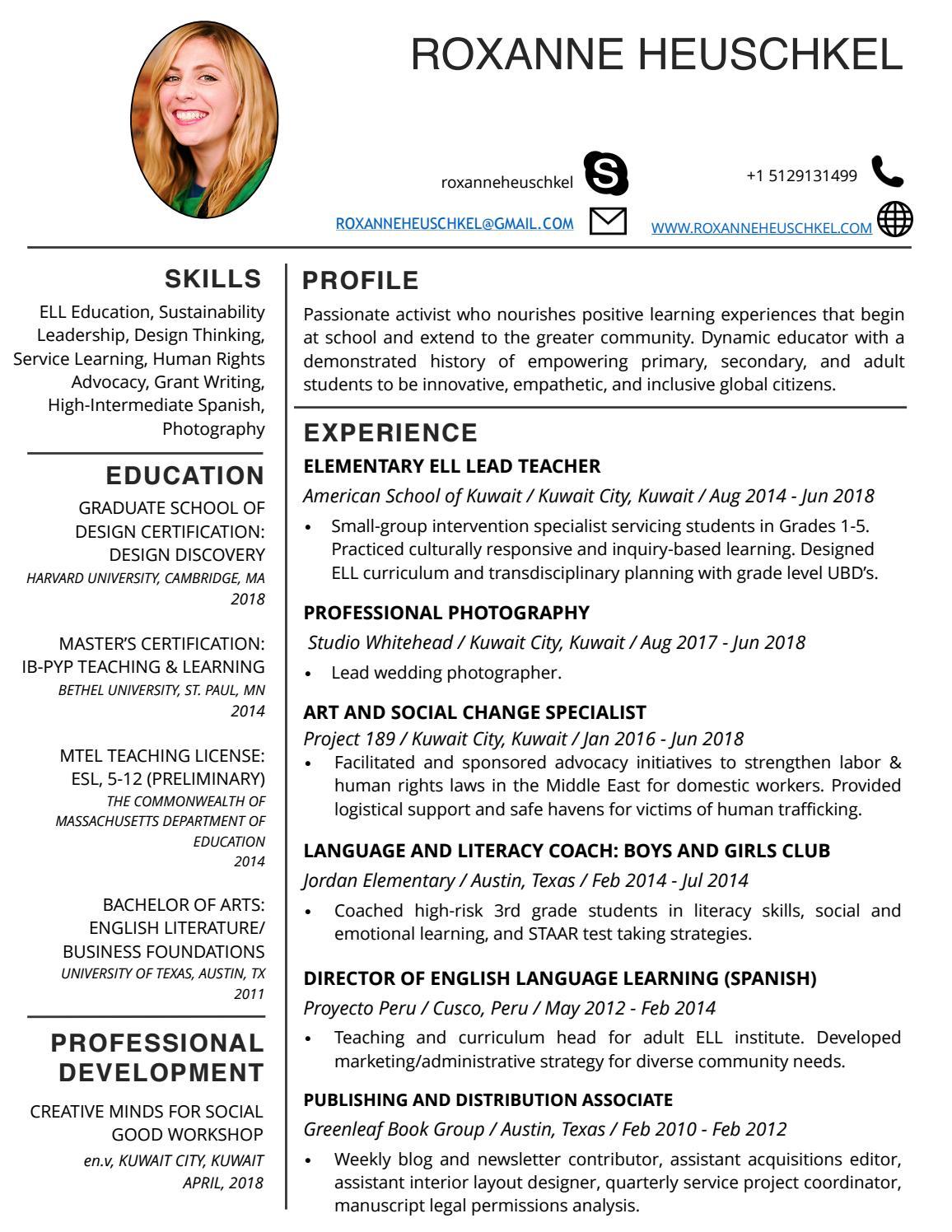 roxanne resume 2019 by roxanne heuschkel